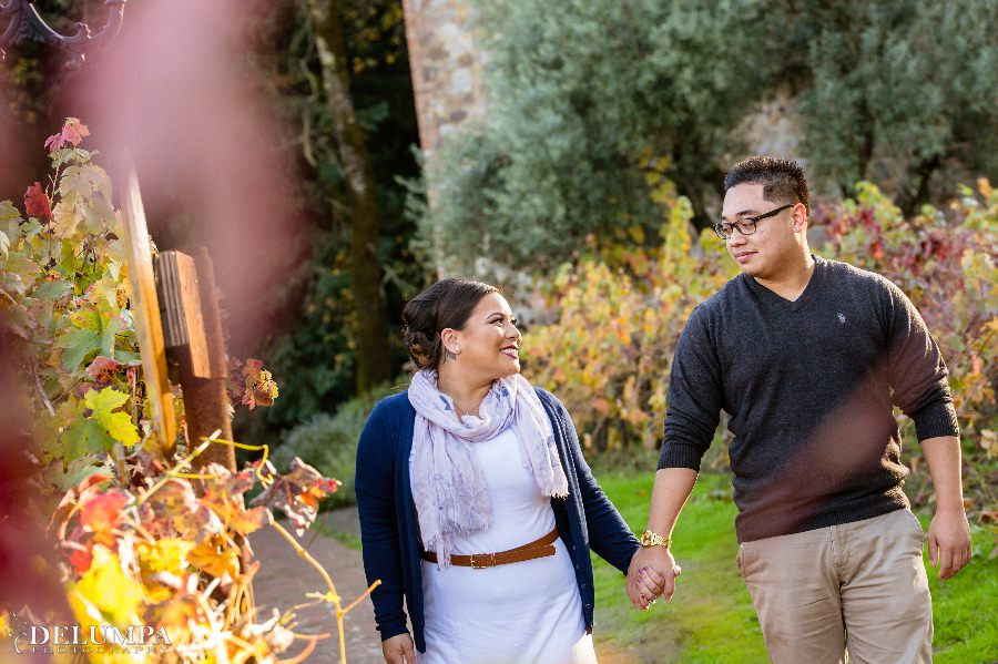 Castello di Amorosa Napa Engagement Session | Sheila & Jordan | Delumpa Photography